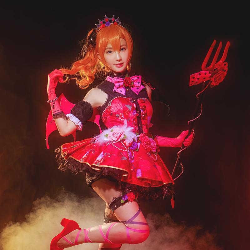 愛ライブ!向坂ほのかコスプレlovelive学校アイドルプロジェクト目覚めidolized小悪魔悪魔衣装