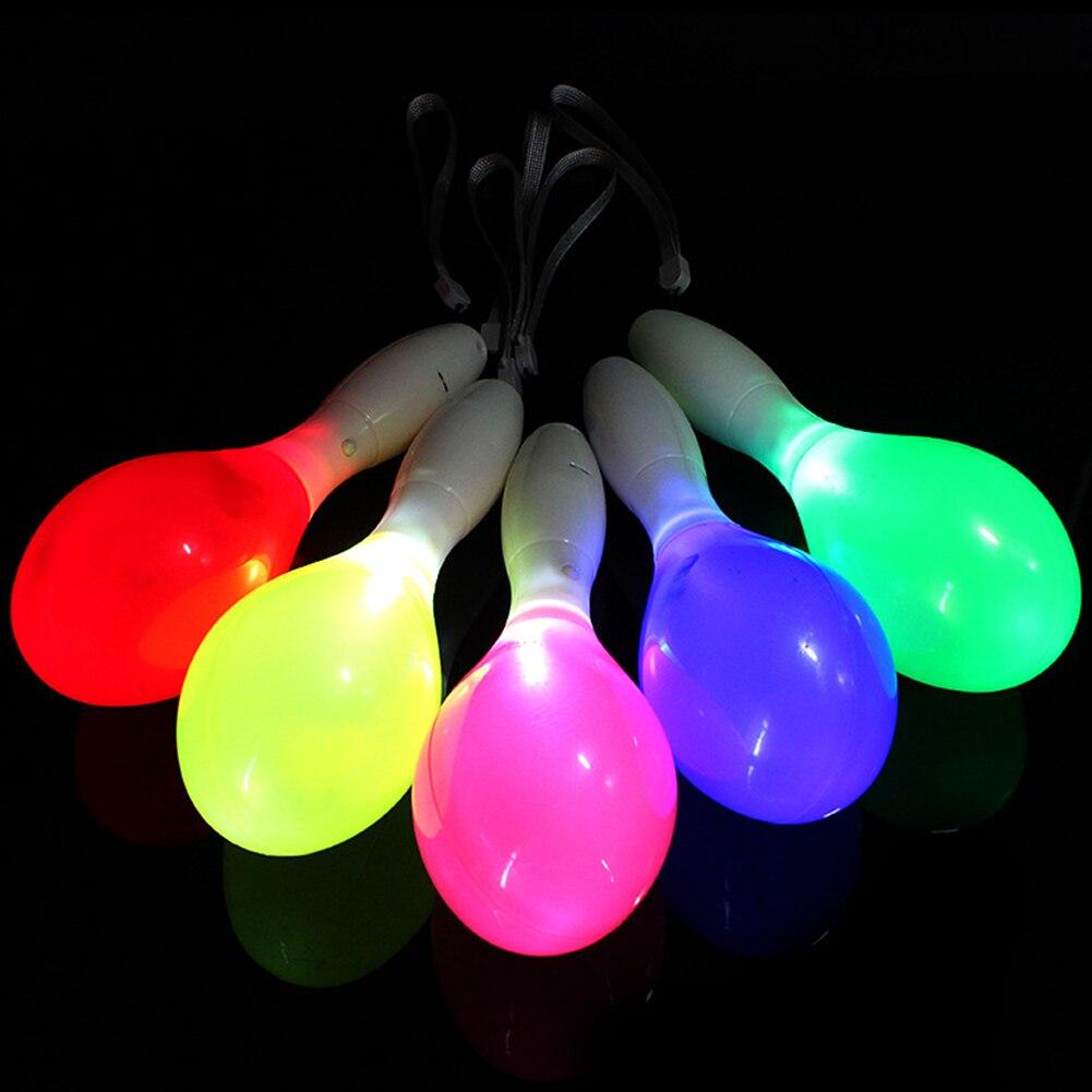 Мигающий Тамбурин светящиеся легкие серьги молоток свет-вверх Тамбурин пластиковый фестиваль Празднование руки погремушка колокольчик КТВ танцы смешные