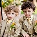 Прекрасный Свадебный Костюм Для Мальчиков Костюмы и Смокинги Мальчиков Наряд Малыш Смокинги Мальчиков Блейзеры Дети (Куртка + Жилет + Брюки + галстук)