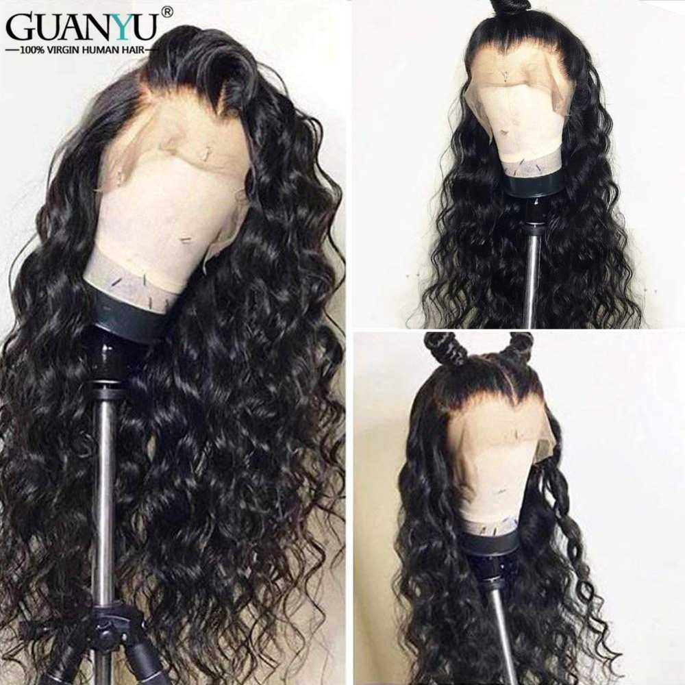 Глубокая волна Синтетические волосы на кружеве парики бразильских неповреждённых волос кудрявый Синтетические волосы на кружеве человеческих волос парики для чернокожих Для женщин с детскими волосами натуральных волос