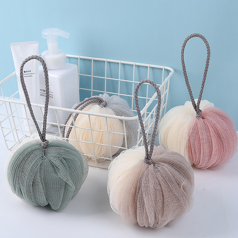 Image 1 - FOURETAW 1 Fashion Soft Bath Ball Bathsite Bath Tubs Cool Ball Bath Towel Scrubber Body Cleaning Mesh Shower Wash Sponge Product-in Bath Brushes, Sponges & Scrubbers from Home & Garden