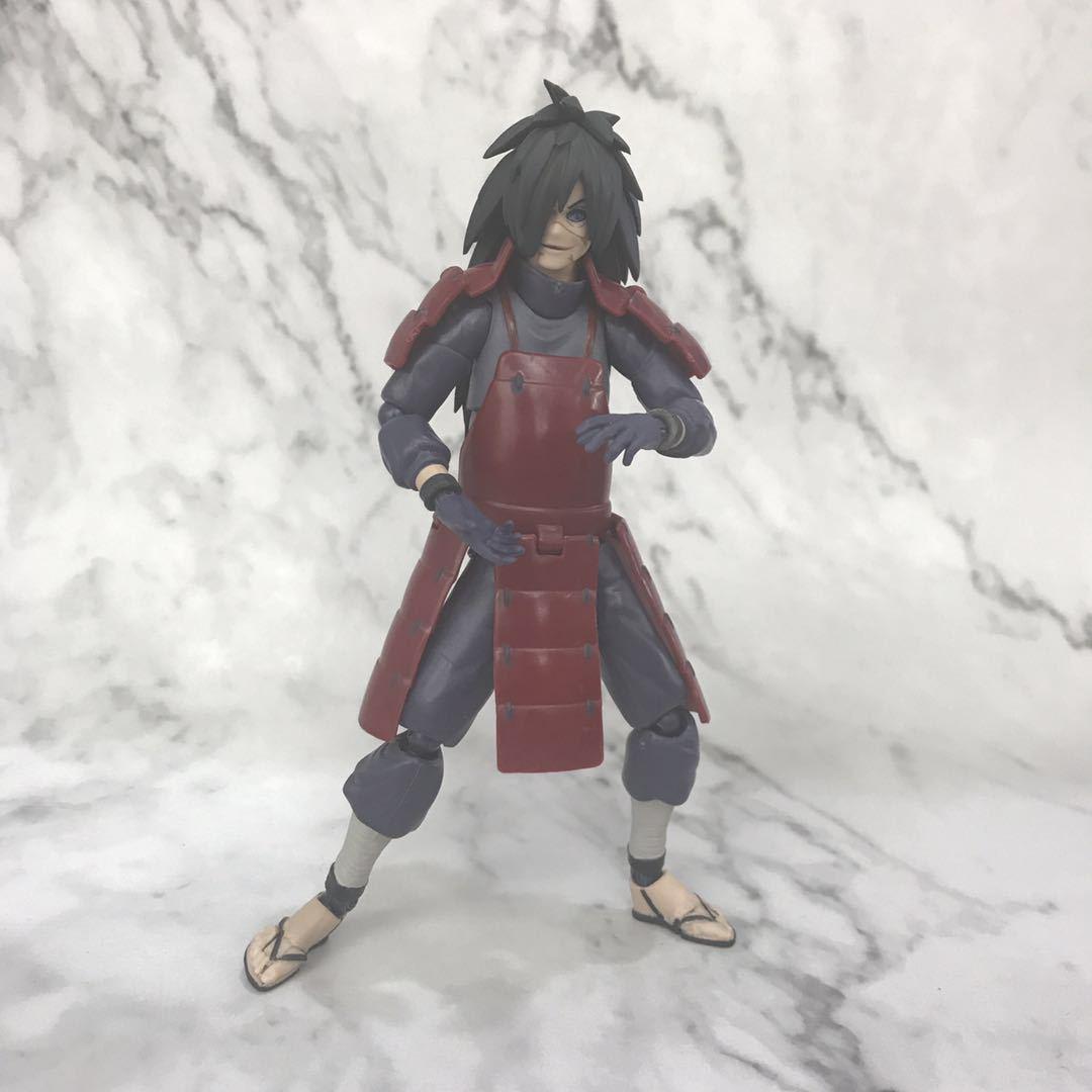 SHF Naruto Uchiha Madara Figure Sickle Toys Model With Retail Box 15cm