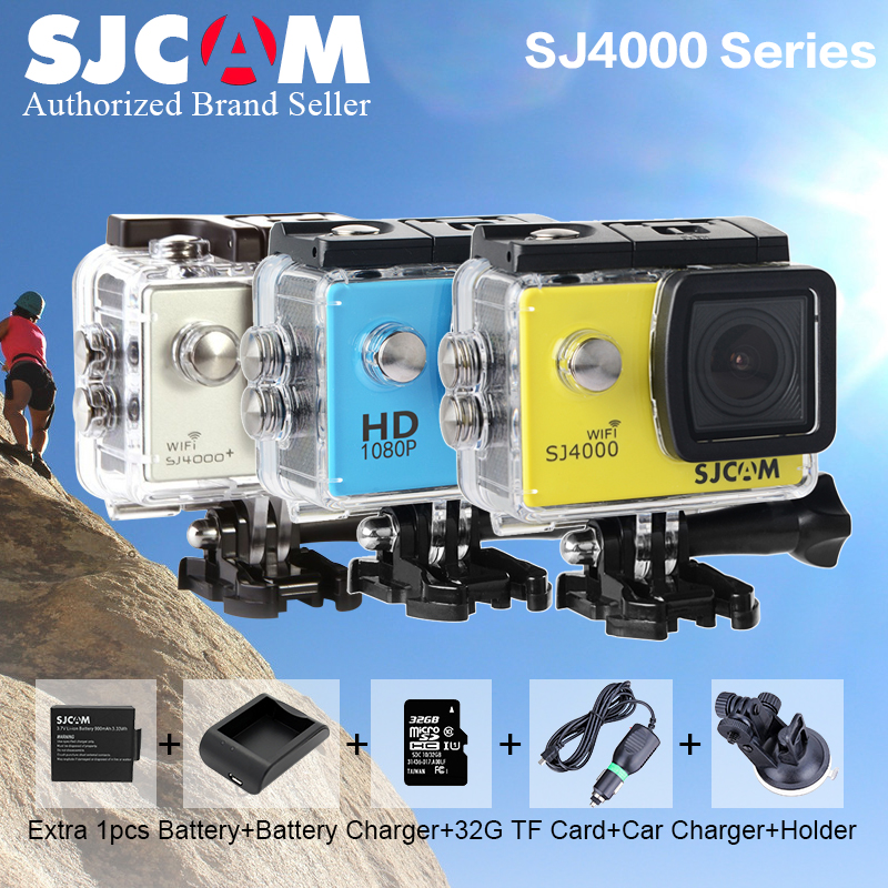 Original SJCAM SJ4000 Series SJ4000&SJ4000 WIFI 2.0 Action Camera 30m Waterproof 1080P Sport DV Sj cam sj 4000 plus 2k mini M20 аксессуар sjcam sj m20 bat for sjcam sjcam m20 дополнительная батарея