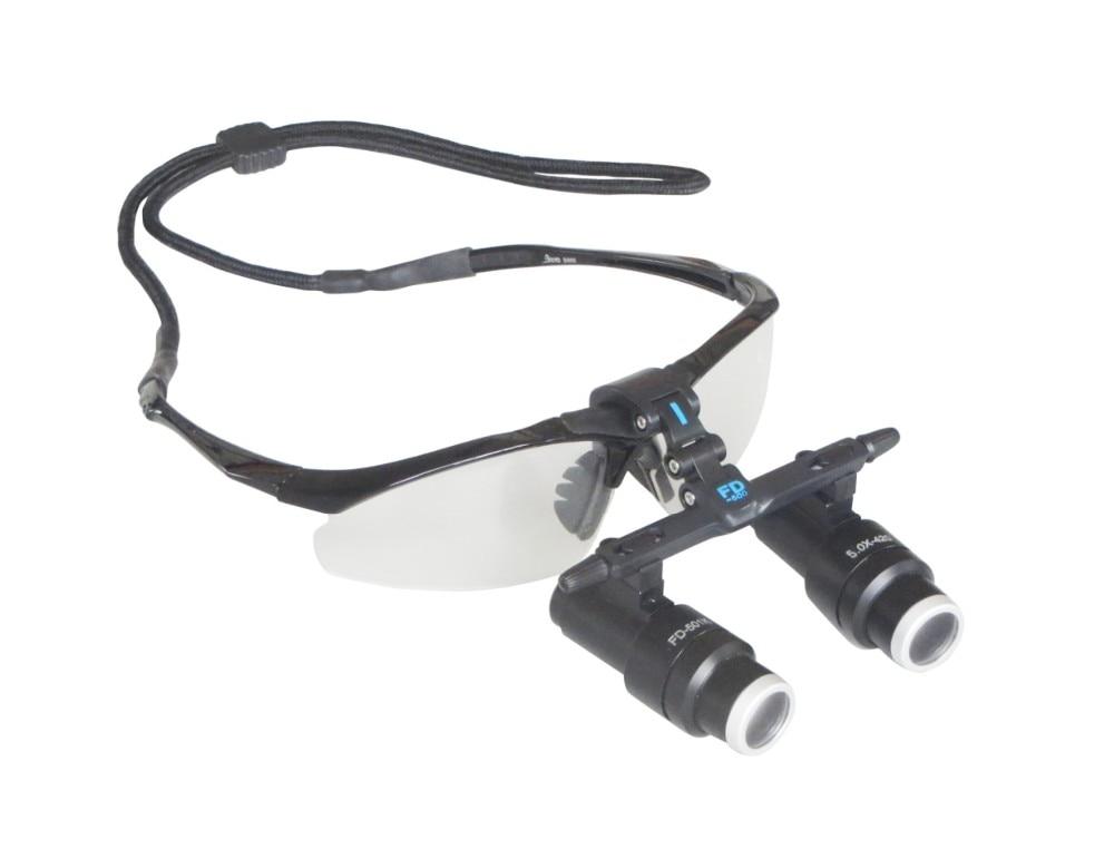 HighQuality 4X Kepler Binocular Medical magnifying glass Surgical loupes Dental Loupes medical loupes with LED light FD-501-K-1  цены