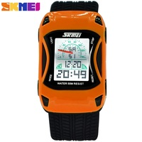 2014 Fashion Jelly LED Watch Super Dive 50 M Waterproof Outside Sport Cartoon Watches Boys