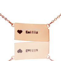 AILIN Personalized USA State Shaped Necklaces DIY Kansas State Of Pendent Charm Necklace Rose Gold Color Map Necklace