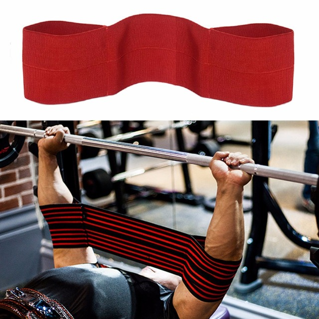 701a805654 Weightlifting Bench Press Support Sleeves Powerlifting Elbow Sleeve Straps  Elastic Bodybuilding Chest Strength Training Support