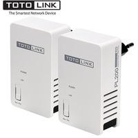 TOTOLINK PL200 KIT 200Mbps Powerline Ethernet Adapter Up To 300 Meters Coverage HomePlug AV Ethernet Bridge