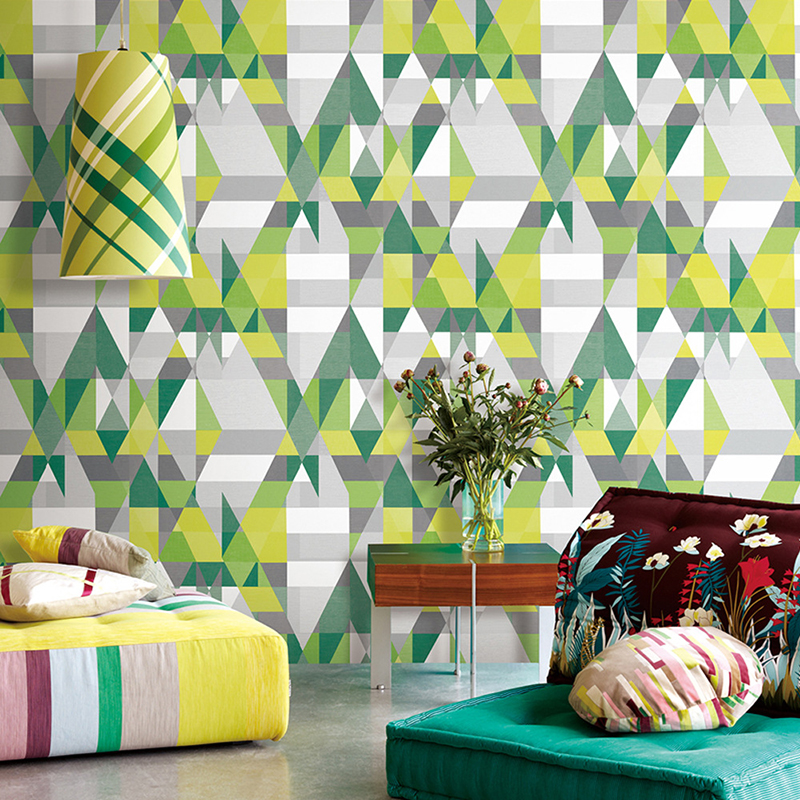 Modern Simple 3D Pure Paper Yellow Green Geometric Wallpaper Personalized Creative Restaurant Living Room Background Wall Papers battlefield 3 или modern warfare 3 что