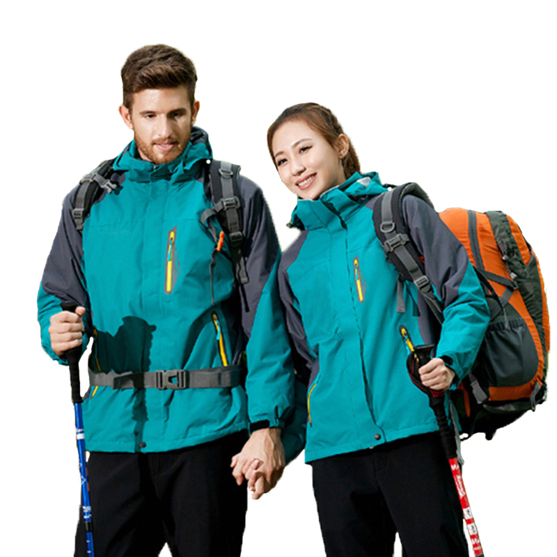 Veste de Ski hommes femmes hiver Sports de plein air randonnée imperméable polaire cyclisme coupe-vent vestes femme mâle grande taille manteau chaud - 3
