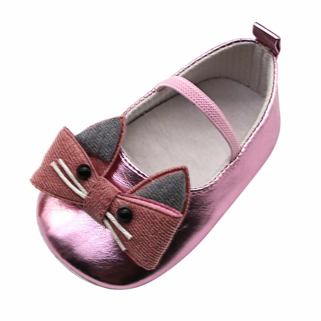 Zapatos De bebé recién nacido, zapatos De cuero De gatito, botines De bebé, suela suave, zapatos para niñas, princesa Sapatinho De Bebes Menino