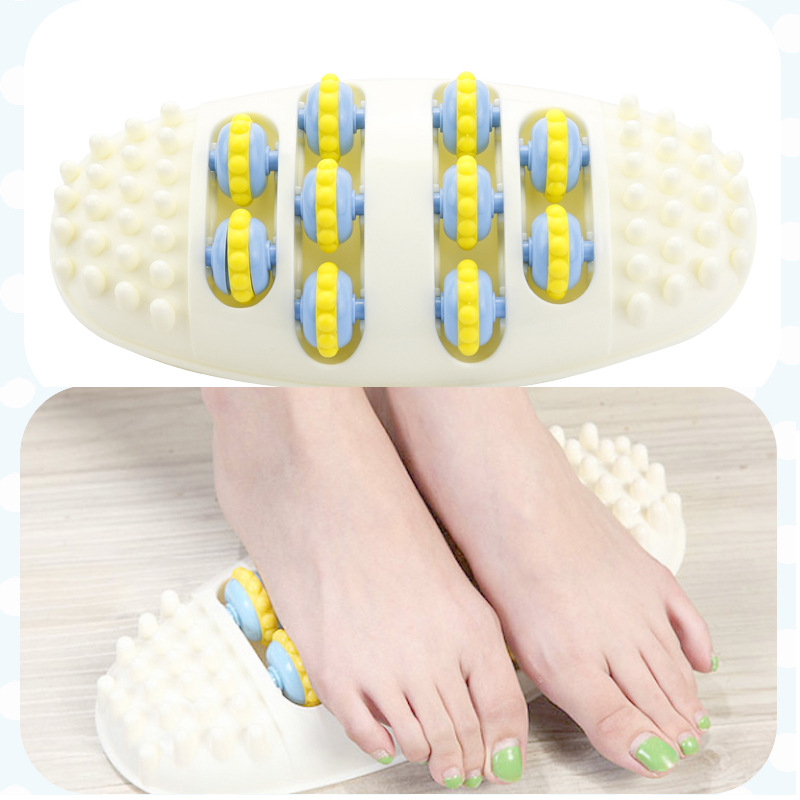 Foot Massage Device Roller Wheel Feet Massager Acupuncture Point Massage Pain Relief Relaxation Reflexology Foot Health Care