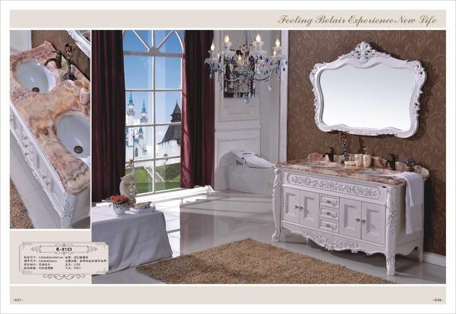 € 1355.7 |Bois couleur salle de bains cabinet/pas cher en bois massif salle  de bains vanity dans Vanités de salle De bain de Rénovation sur ...