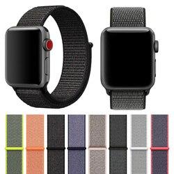 Leichte Atmungsaktive Nylon Sport Schleife Band 44mm 40mm für Apple Uhr Serie 5 4 3 2 1 42MM 38MM iWatch armband Sport Schleife