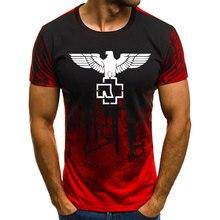 купить!  2019 Последние достижения Sunmer Mens Fitness Печатный Rammstein Камуфляжная футболка с короткими