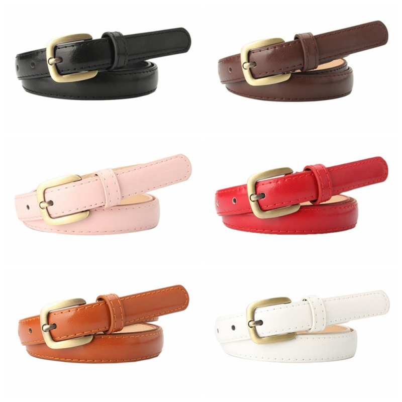 Ladies belt new alloy small square buckle thin belt girls wild decorative belt pants belt(China)