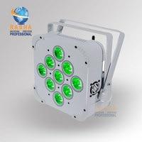 Factory Price Penta 9*15W LEDs 5in1 RGABW Built in Wireless LED Flat Par Light LED Slim Par Can Disco Event Stage Light