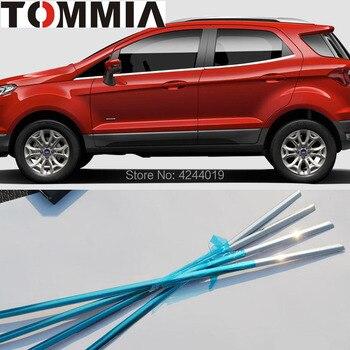 TOMMIA 6 piezas de acero inoxidable cromado parte inferior ventana Marco borde para Ford Ecosport accesorios para coche