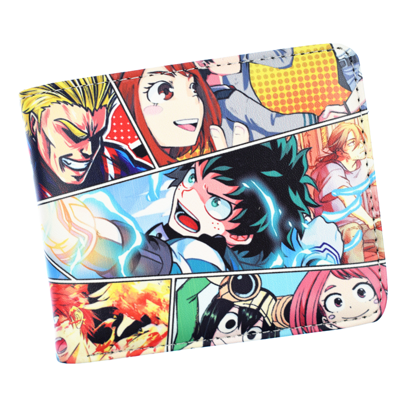 New Arrival My Hero Academia Wallet With Coin Pocket Card Holder Bi-Fold Purse For Young