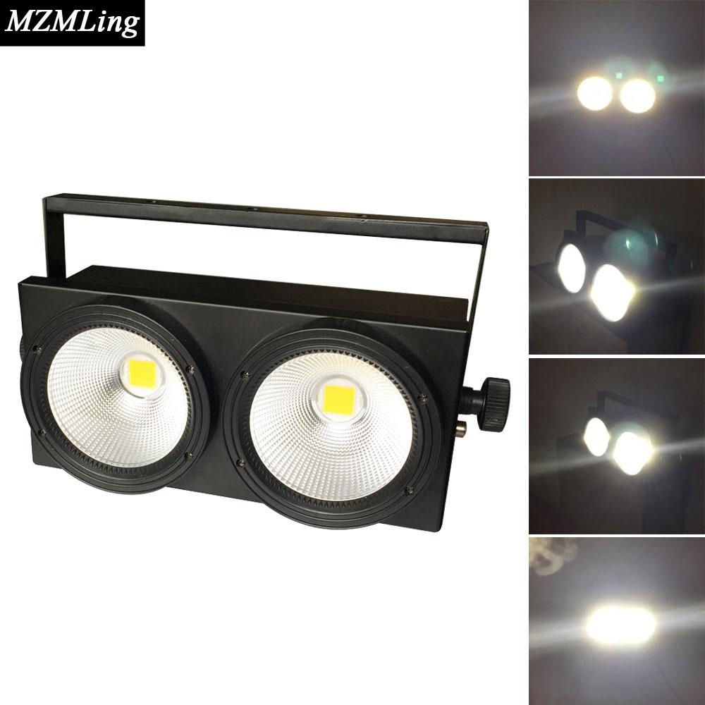 2x100w Audience Light Warm White Led Light Led Outdoor /Flood Light Stage DJ /Bar/Home Lighting Effect