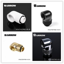 2pcs Barrow Black White Silver G1/4'' thread 90 degree Rotary Fitting Adapter Rotating watercooling TWT90-V2.5 free shipping(China)