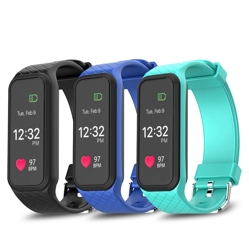 YourTribe Colorful Screen L38i Smart Bracelet BT4 0 Heart Rate Monitor Smartband Wristband Sports Fitness Band