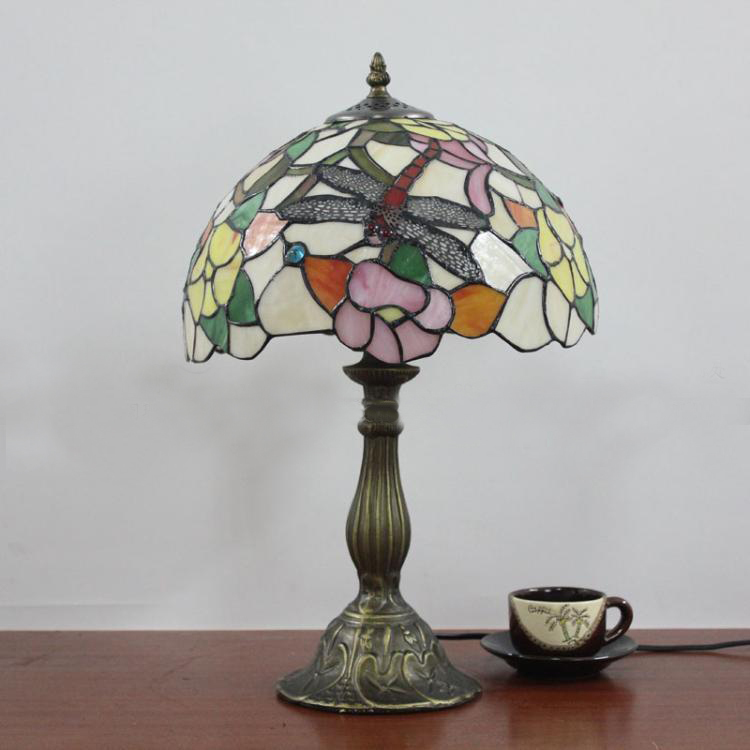 dragonfly stained glass lamp shade buy cheap dragonfly stained glass. Black Bedroom Furniture Sets. Home Design Ideas