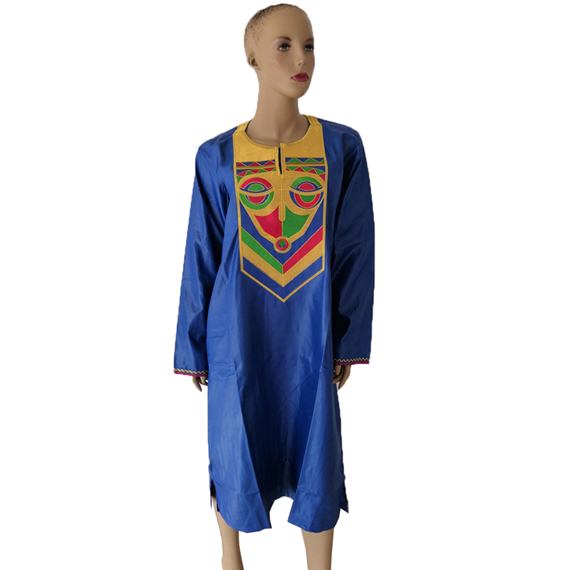 MD 2019 New African Dashiki Dresses For Women Embroidery Bazin Riche Dress Traditional African Print Clothing Plus Size Dresses