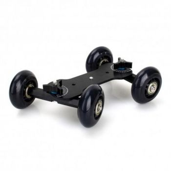 Mobile Rolling Dolly Car Skater for Speedlite Camera Rig Black Wheels image