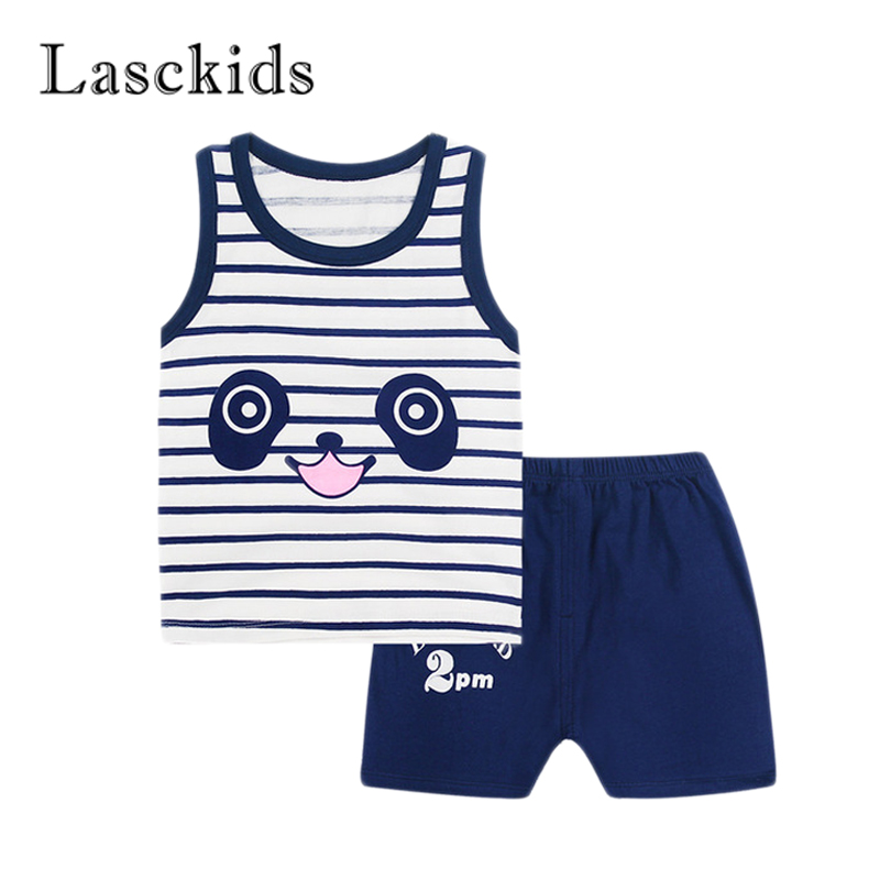 Lasckids Baby Set Toddler Boys Infant Girls Clothing Set Bebe Summer Sleeveless vest Sho ...