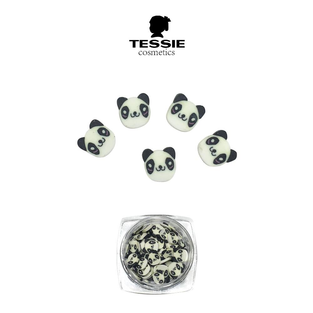 Clay Canes Panda Nail Studs 3D Poker Tarjetas Panda chino Nail Art - Arte de uñas - foto 1