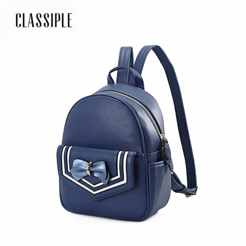 Women Backpack New Fashion Casual Navy Blue Bow Sweet Lady School Bags For Teenagers Girls Leisure Backpacks Female Rucksack