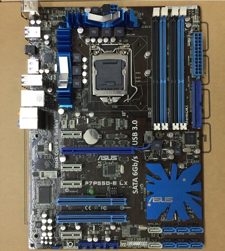 original Desktop motherboard ASUS P7P55D E LX DDR3 LGA 1156 16GB P55 USB3 0 SATA3 0