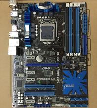 Оригинальный рабочего Материнская плата Asus p7p55d-e LX DDR3 LGA 1156 16 ГБ P55 USB3.0 SATA3.0 плата бесплатная доставка