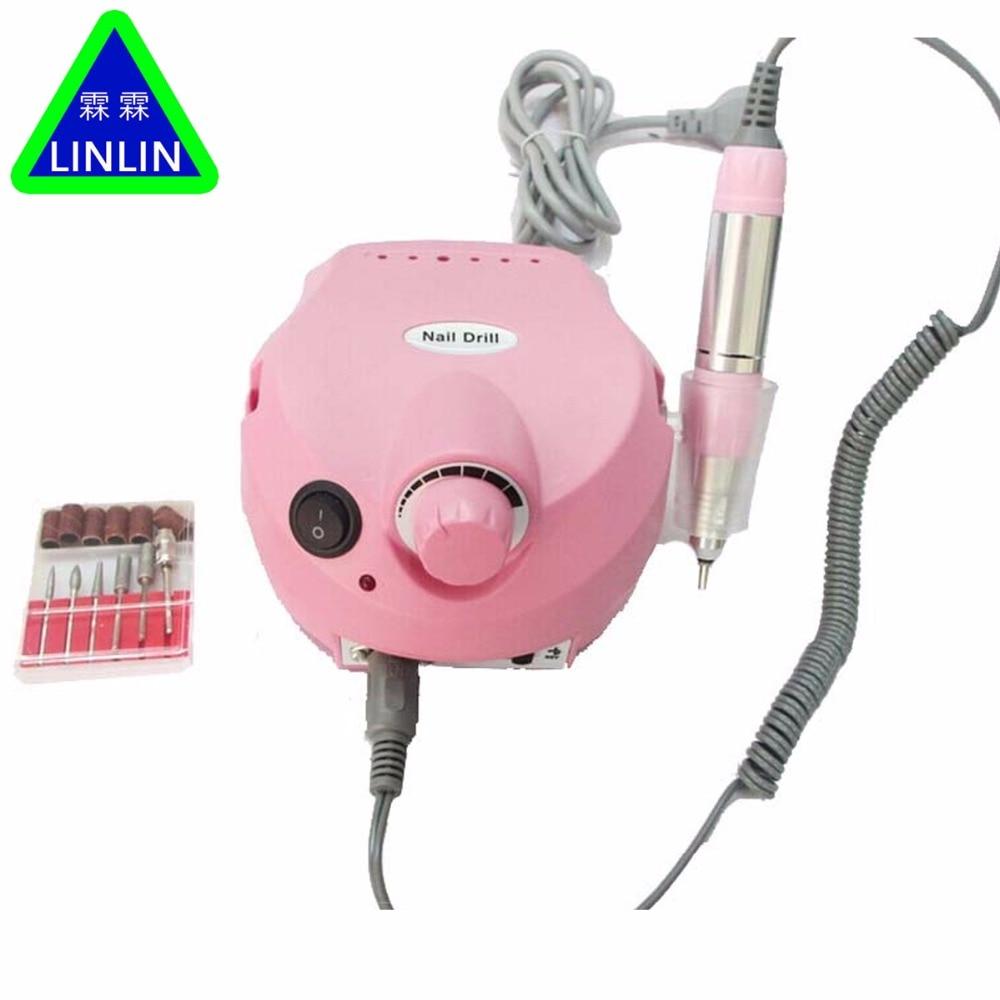 25000RPM Pro Acrylic Electric Nail Drill Machine Manicure Pedicure Nail Drill Bits Sanding Band File Salon  Massage Relaxation