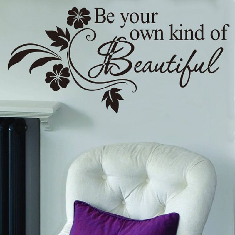Decals Diy Be Your Own Kind Beautiful Flower Wall Sticker Decor Decal High Quality On Hot