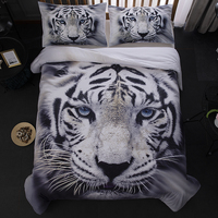 White Tiger animal bedding set with pillow case Quilt Cover duvet cover Soft And Comfortable Queen King Twin Full new 3pcs