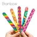 Brainbow 5pc/lot Colorful Sanding Nail File Printed Double Sided Nail Art Manicure Sanding File Buffer Grits 100/180 Nail Tools