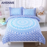 AHSNME Indian Mandala Bedding Set Changeable Color Comforter Cover Classic Bohemian Duvet Cover Queen King Size Adults Bedlinens