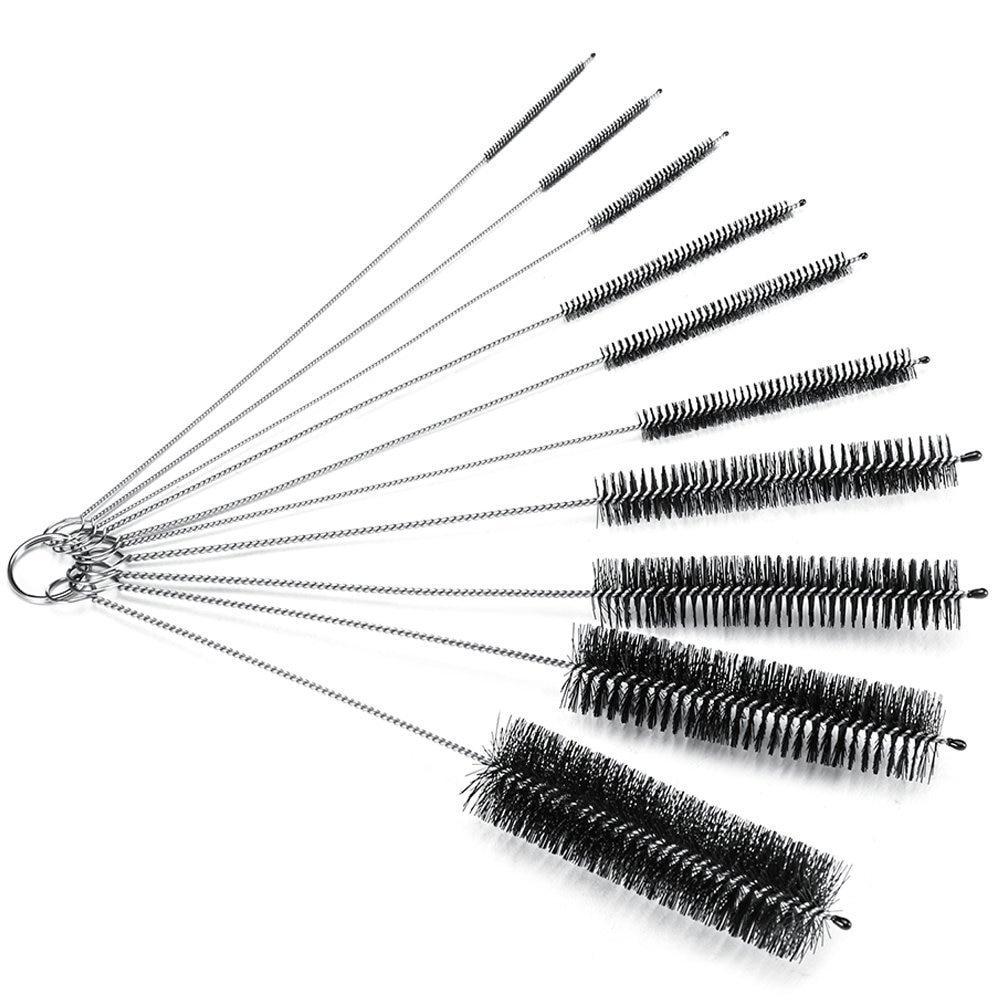 WOTT Bottle Brush,Bottle Cleaning Brushes, Cleaning Brush, Cleaner For Narrow Neck Bottles Cups With Hook, Set Of 10 Pcs