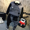 Kids 2016 winter boys with Korean fashion cashmere two piece suit free shipping