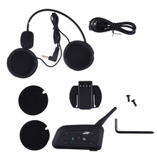 Motorcycle Bluetooth Helmet Intercom 1200M Full Duplex 6 riders Wireless BT Interphone Headsets Communication System US plug