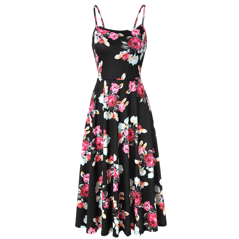 5d8f0101f7194e4 Новинка 2019, летние женские платья в стиле бохо, винтажное Повседневное  платье без рукавов с