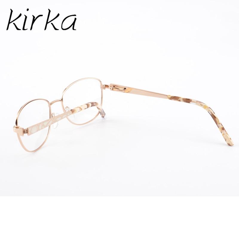 e41ec44f65ea קנו נשים ' s משקפיים | Kirka Metal Eyeglass Woman Frame Golden ...