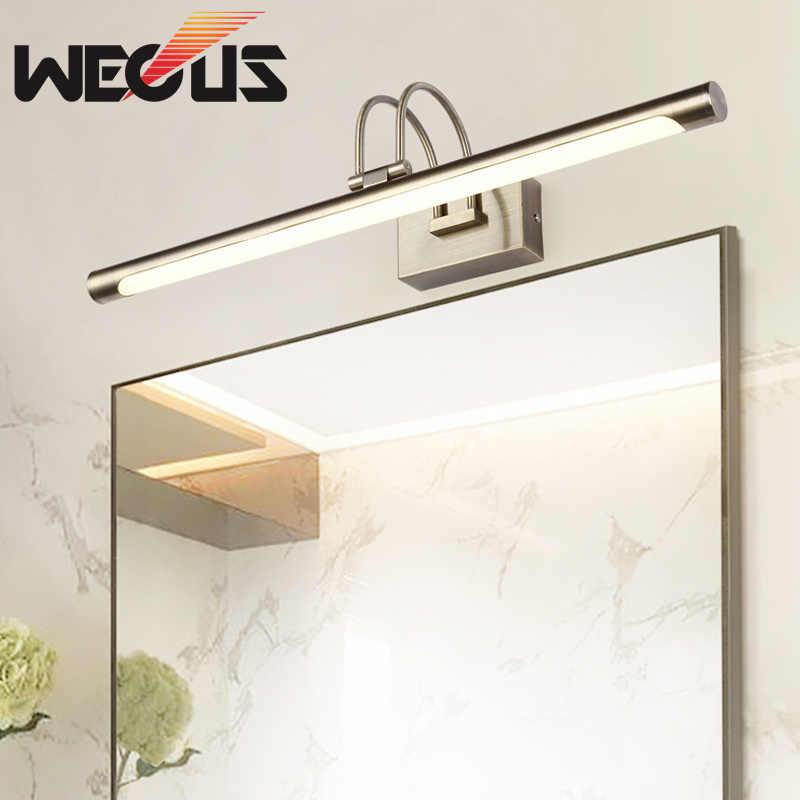 Europe Brushed Nickel Vanity Light Vintage Led Bathroom Lamp Fittings Hotel Malon Lighting Over Mirror Cabinet Mirror Cabinet Bathroom Lampvanity Light Aliexpress