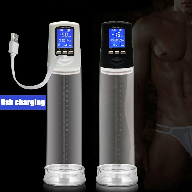 Penis Pump with USB Rechargeable LED Automatic Penis Enlarger Male Enhancement Electric pro extender Penis Enlargement