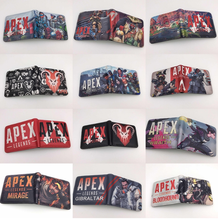 Hot Game Apex Legends Purse Toy Leather PU Card Holder Short Wallet Creative Gift For Teenager Wallets Toy Gift