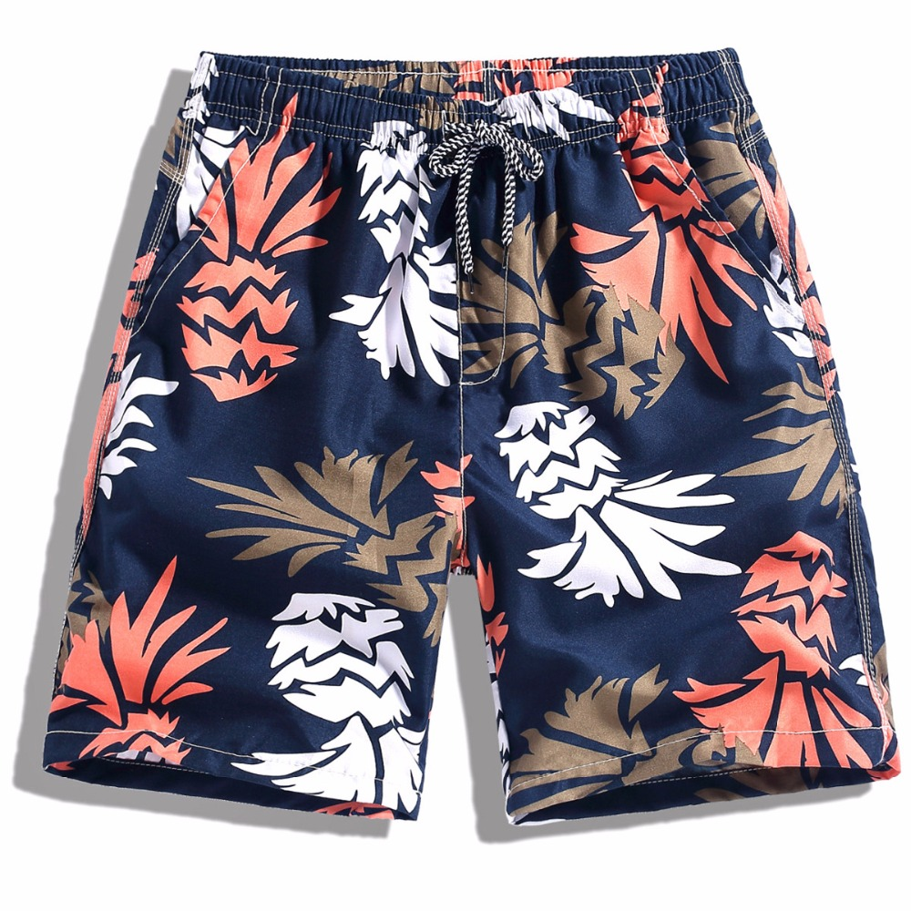 EL BARCO Colorful Print Men   Board     Shorts   Quick Dry Summer Male Beach   Shorts   Knee Length Swimming Trousers Casual Size M-3XL