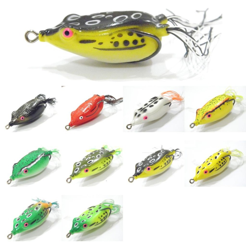 Fishing lure topwater frog hollow body life like skin 10g for Top water frogs bass fishing