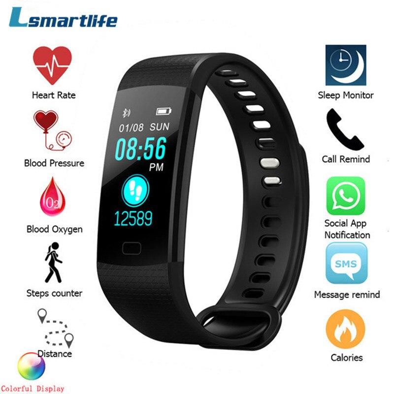 Y5 Bluetooth Smart Armband Hören Rate Blutdruck Monitor Smart Band Farbe Bildschirm Frauen Männer Sport Fitness Spur Pedometer